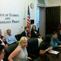 Makerspace Organizers meeting in the Office of Science and Technology Policy at the White House