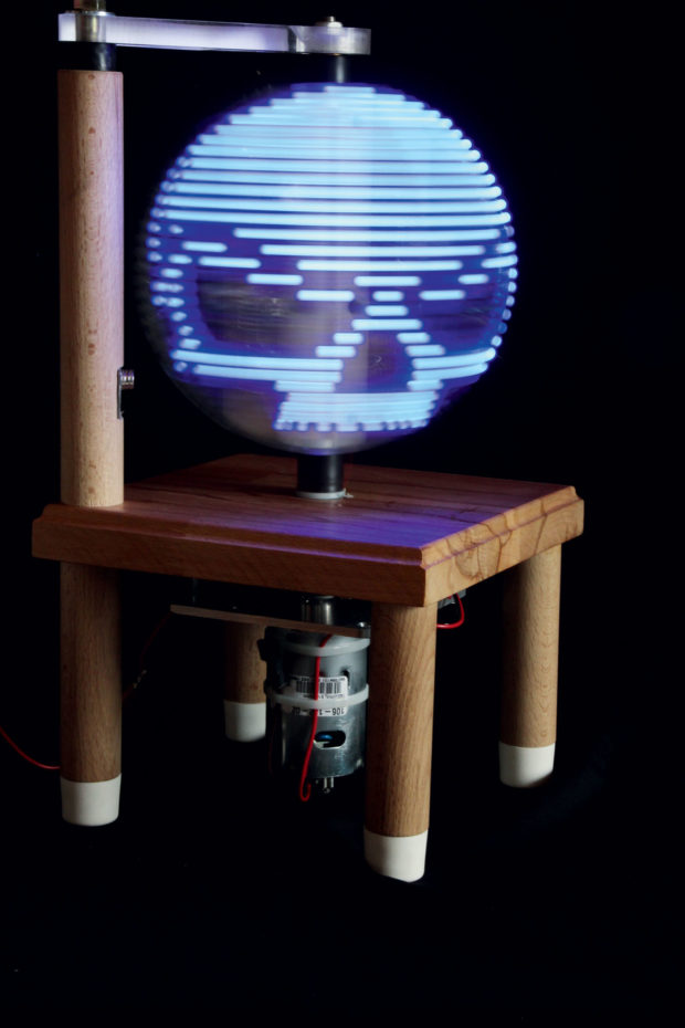 Build a Persistence-of-Vision LED Globe | Make: