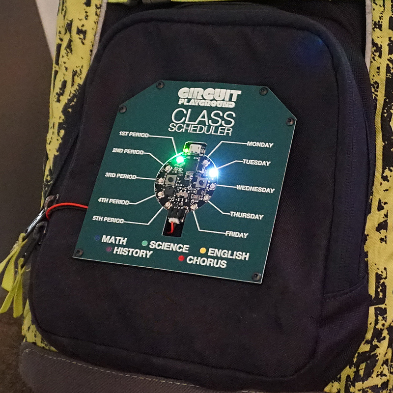 Back to School with This Circuit Playground Class Scheduler