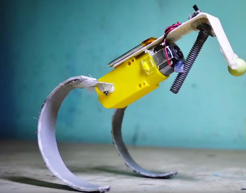 "Make Simple Running Robots Using ""Whegs"""