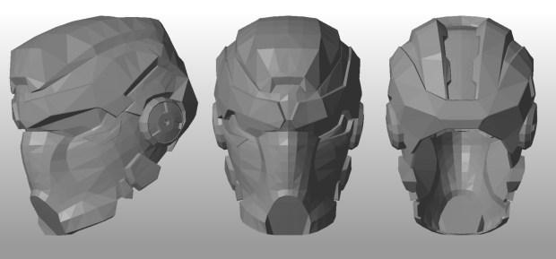 FIGURE 2-14: Hunter helmet 3D model — shiny!