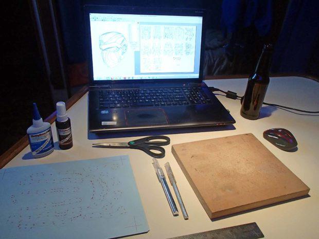 FIGURE 2-24: The Pepakura work area