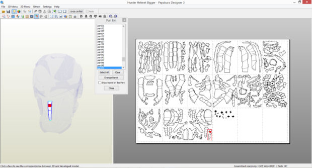 FIGURE 2-26: Using the Check Corresponding Face tool to instantly locate the next part to cut out