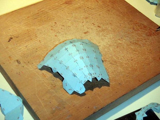 FIGURE 2-30: The assembled helmet schnoz
