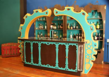 A bar built as part of a renovation for Three Rings Design