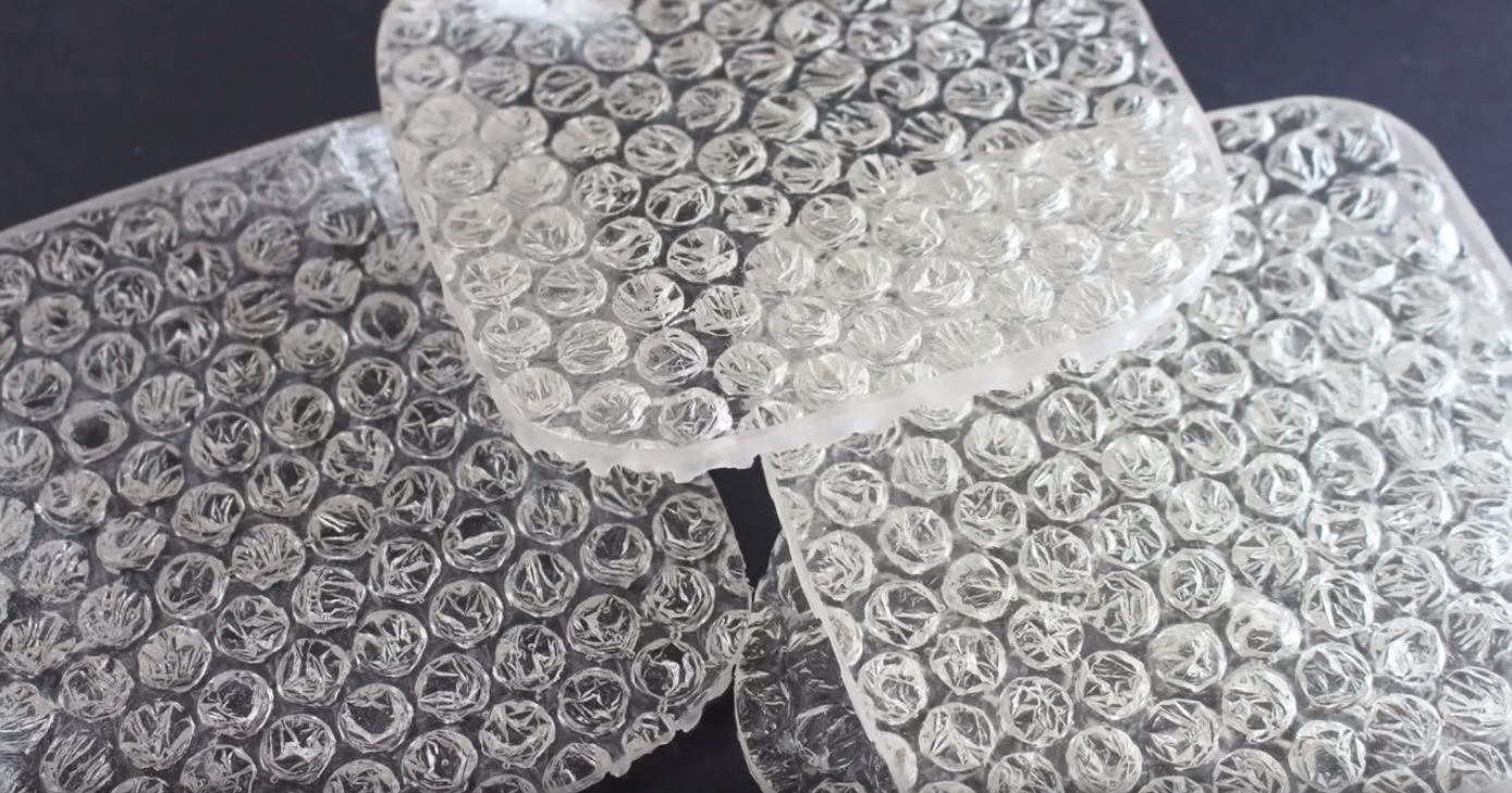 Make These Whimsical Bubble Wrap Coasters