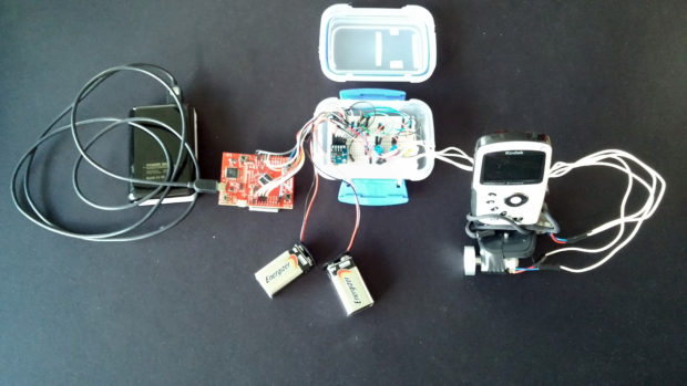 My Tiva-C Camera Stabilizer helps steady video cameras using the TI board, accelerometer and a pair of gyros