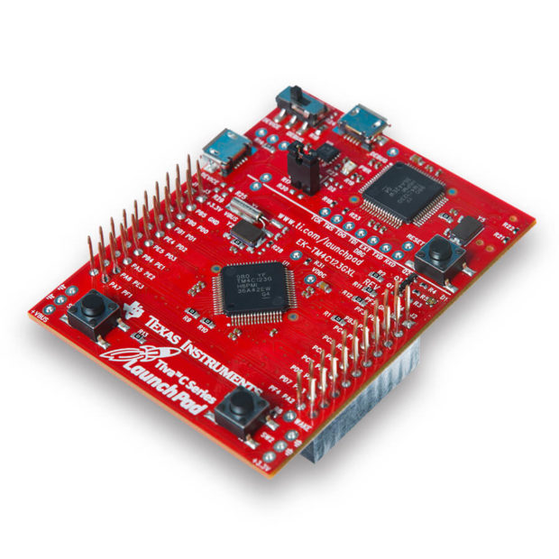 Texas Instruments' newest dev board, the Tiva-C LaunchPad features an ARM Cortex-M4F CPU, up to 1Mb Flash memory and 256Kb of RAM depending on the model