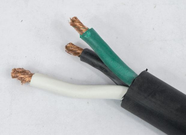 Figure 13 – Breaker box end of the prepared cable