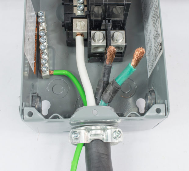 Figure 14 – Cable entering breaker box