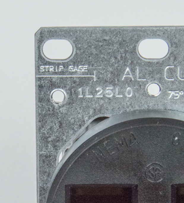 Figure 18 – Strip gauge on outlet