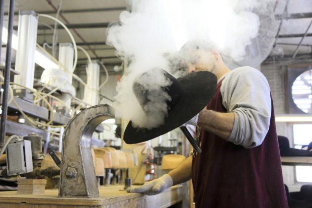 The Serratelli Hat Company produces their product in Newark, New Jersey.