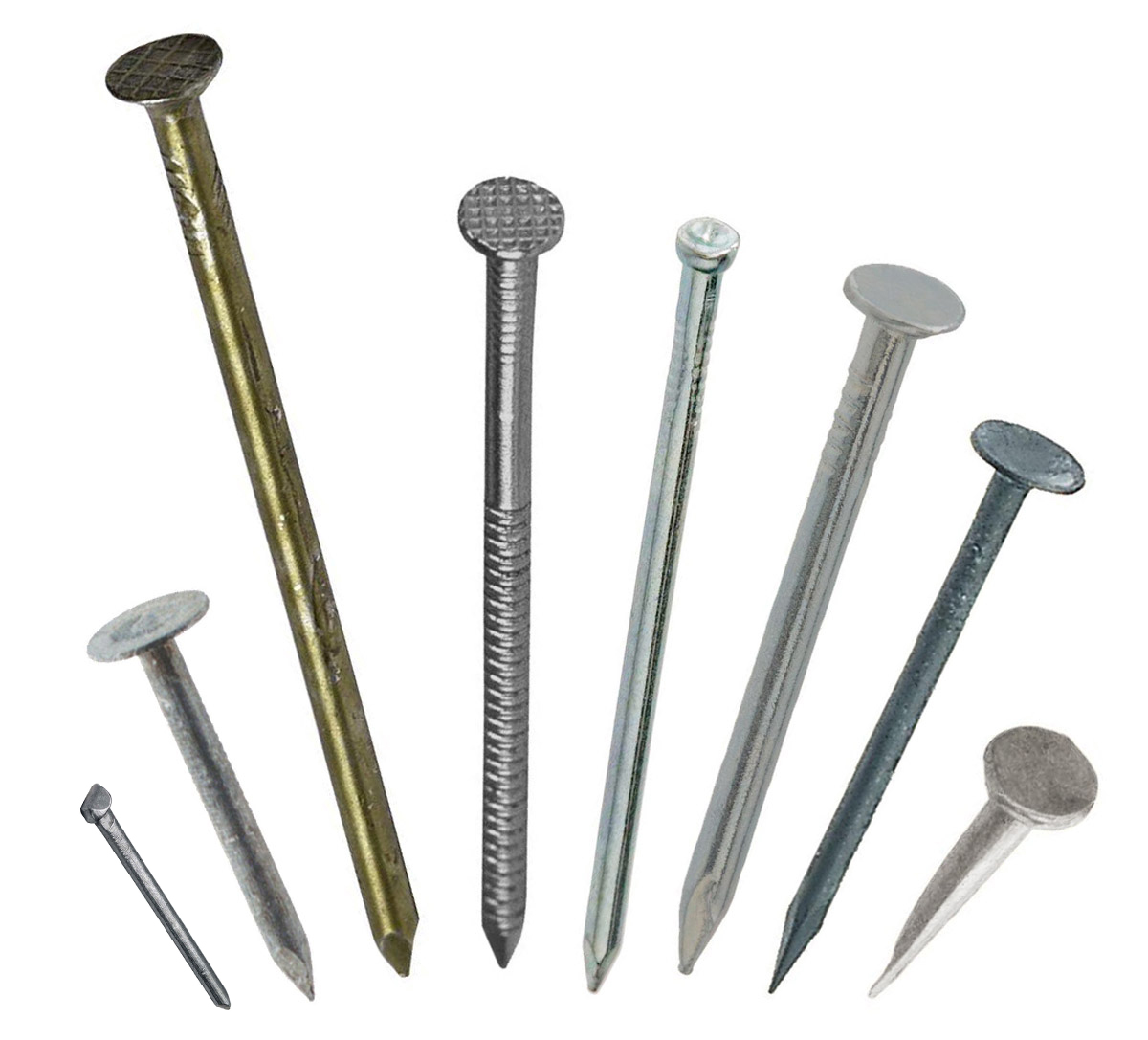 Figure 9. Some types of nails. See text for details.