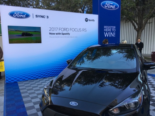 The new Ford Focus uses voice commands to control integrated apps like Spotify
