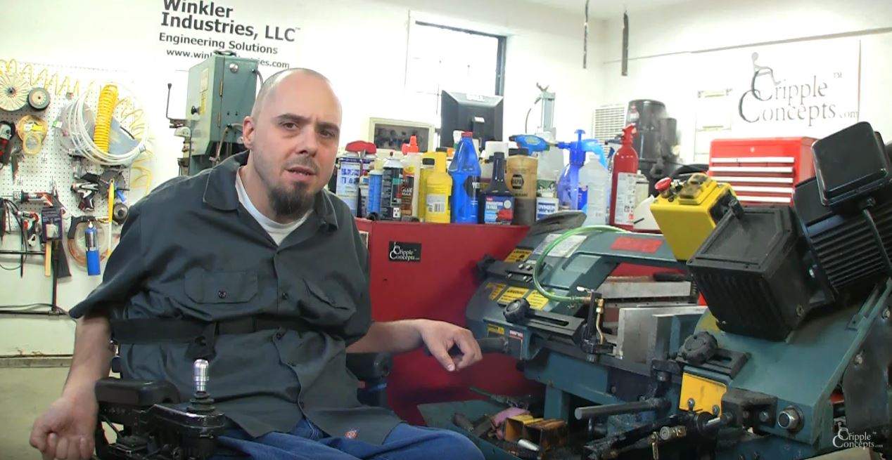 """Weekend Watch: """"Cripple Concepts"""" Shows How to Use a Workshop with a Physical Disability"""