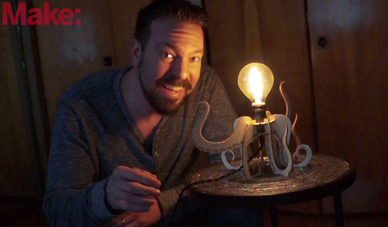 Laser Cut a Slot-Together Octopus Lamp | Make: