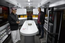 Nayef and Youns from IBTechAR, sponsors of the Sanea bus.