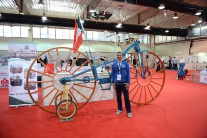 Ahmad Awadh and his very big bike.
