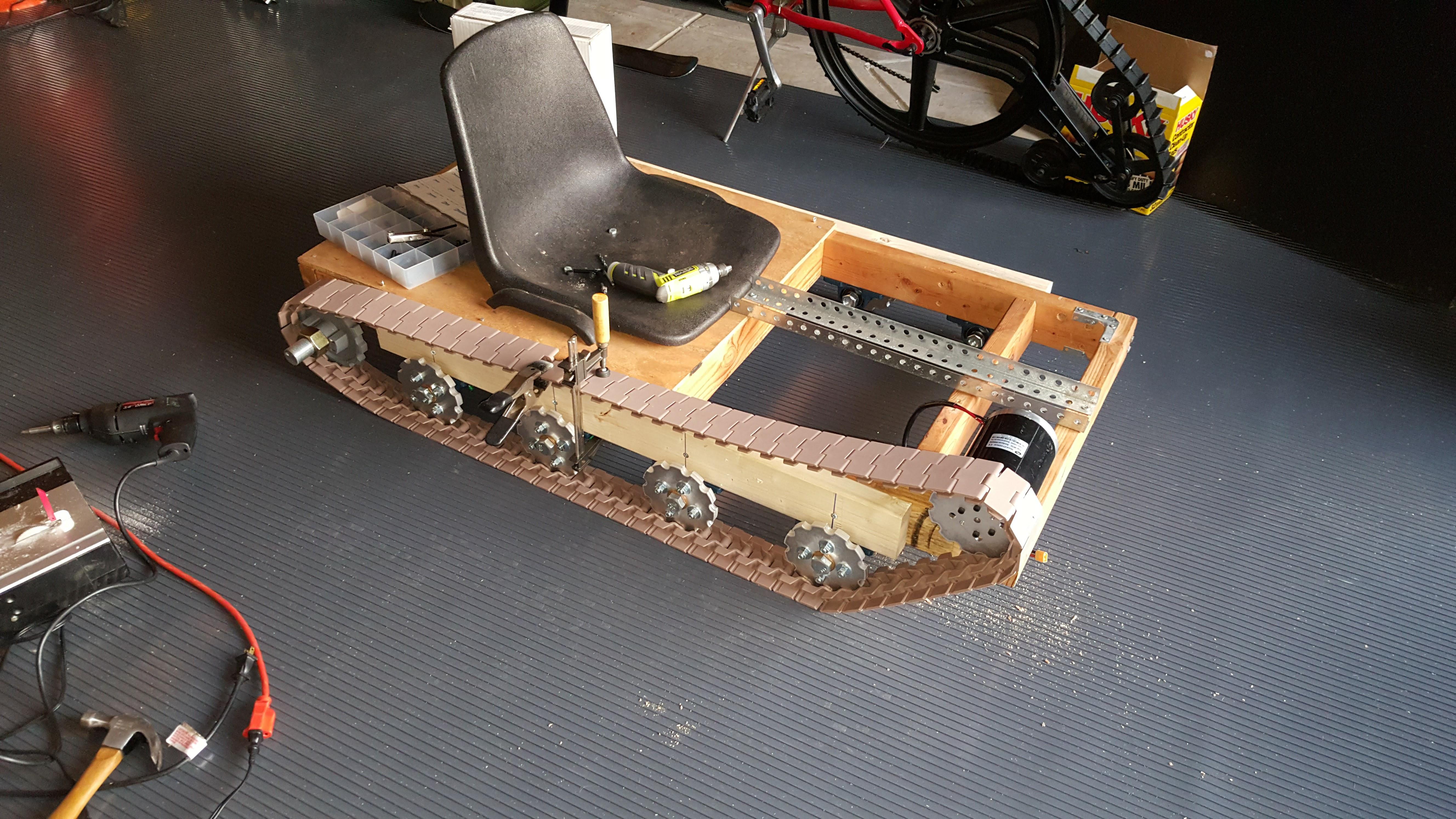 How I Added Tank Treads to a Go-Kart