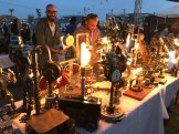 Mody of https://www.facebook.com/Mavericks.NR/ had a gorgeous array of lamps crafted from industrial parts