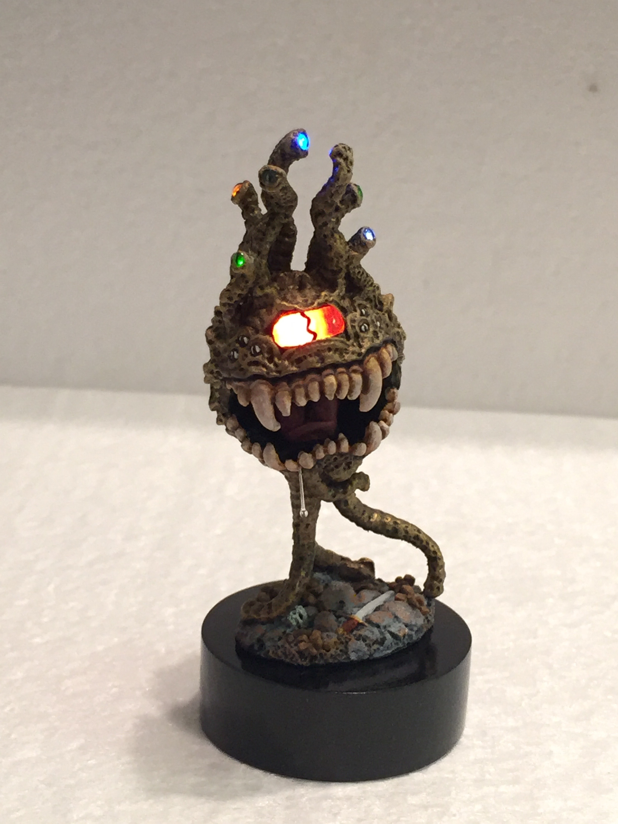 Outfitting a D&D Beholder with LED Eyes