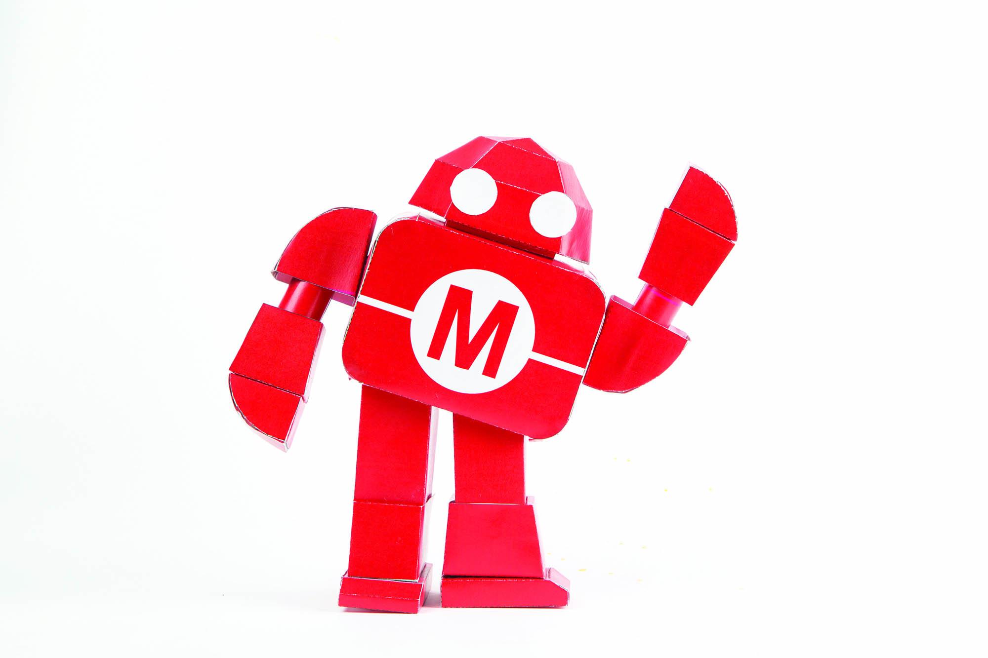 DIY Posable Papercraft Makey Mascot