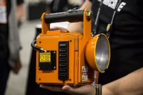 The handheld lantern-turned-projector the user holds to play Fear Sphere.