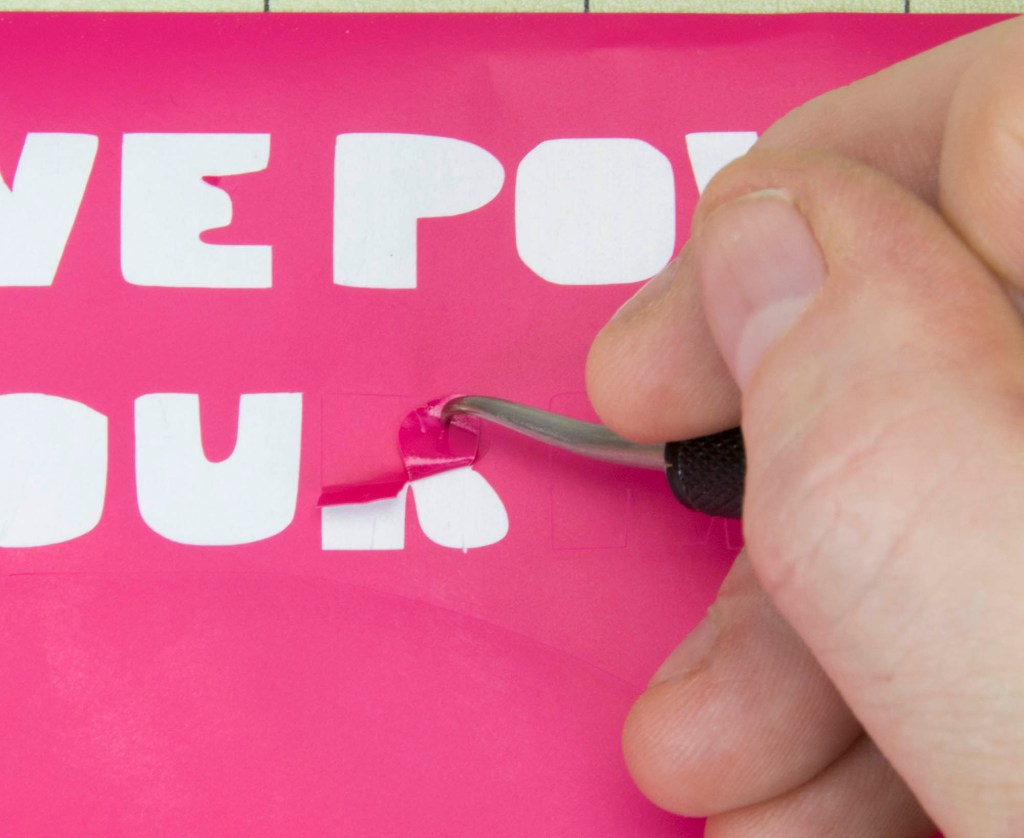 use a vinyl cutter to design stencils for spray painting make