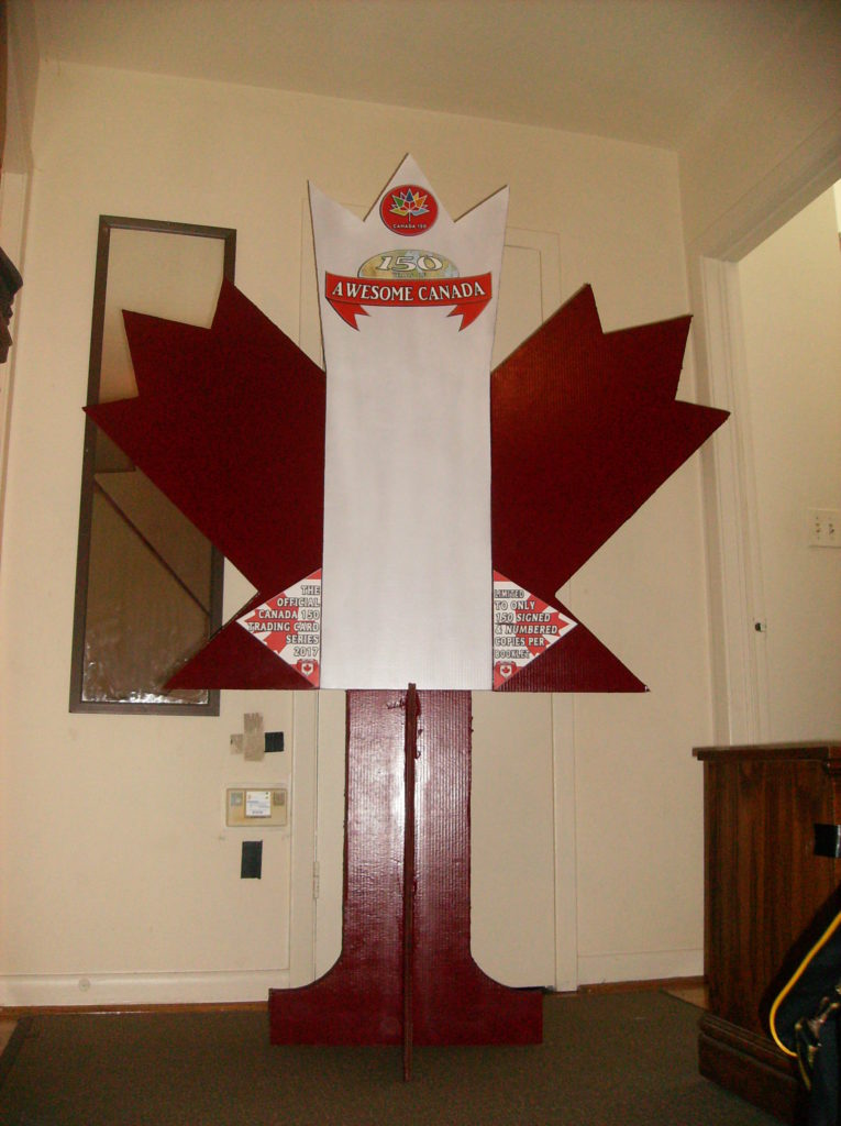 Cardboard maple leaf