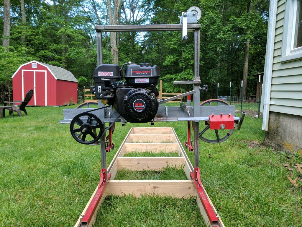 how i built a sawmill in the backyard make