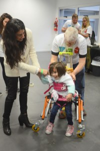 The global Tikkun Olam Makers network helps a girl with mobility needs in Buenos Aires. Photo courtesy of TOM