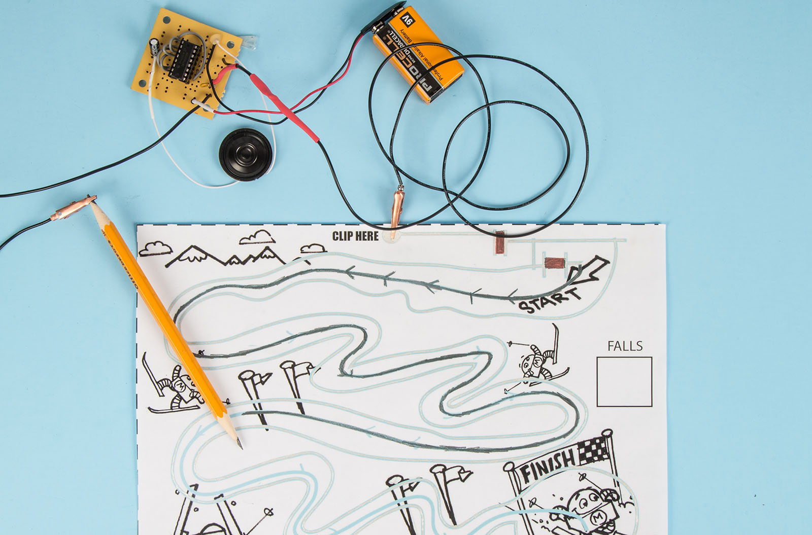 Build An Electronic Audio Game With A Pencil Paper And Conductive Melody Maker Wiring Diagram Ink Make