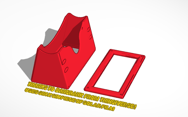 A 3D rendered solar eclipse viewer is detailed on a print bed.