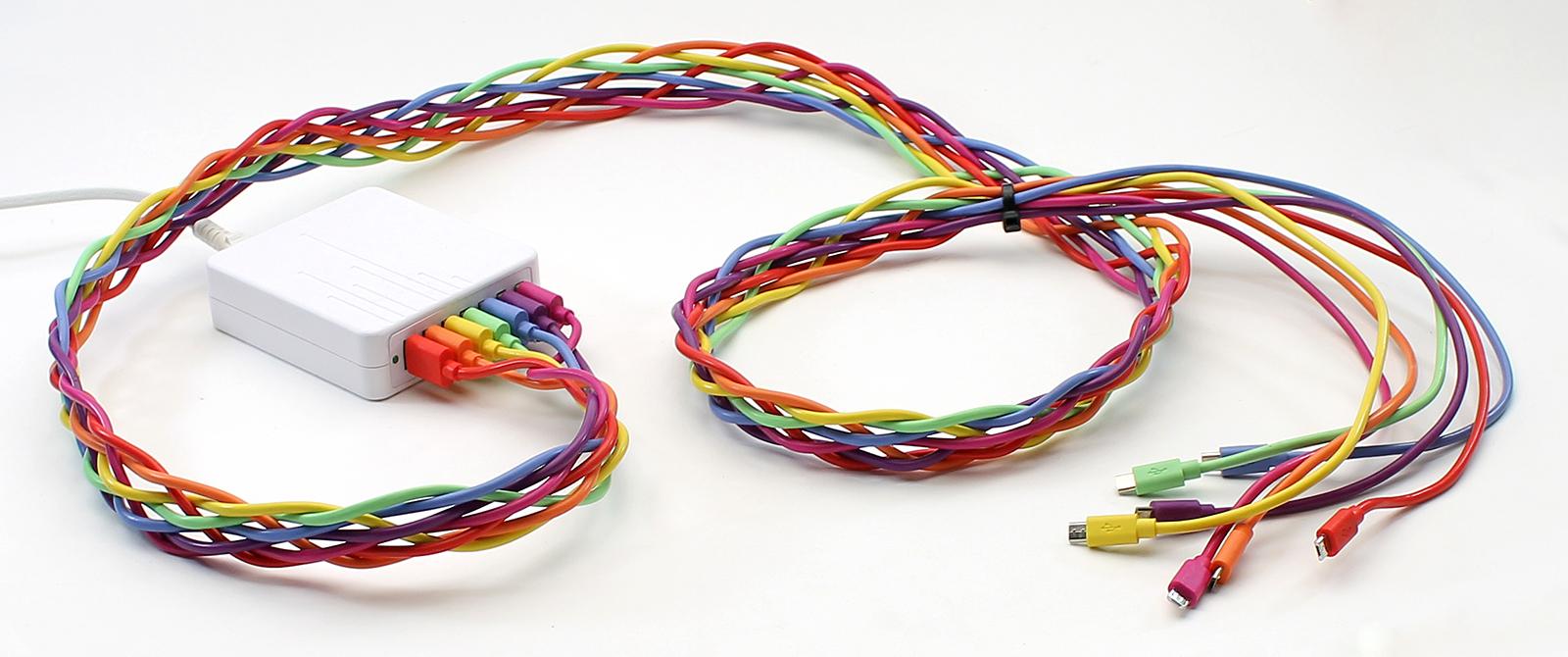 Braid a Rainbow-Tastic USB Charging Station