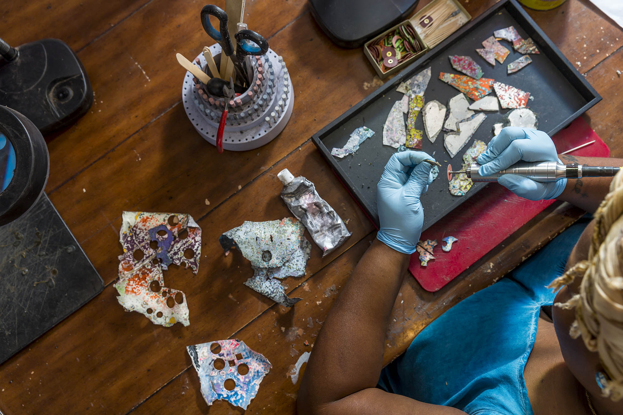Rebel Nell Transforms Chipped Graffiti into Stunning Jewelry