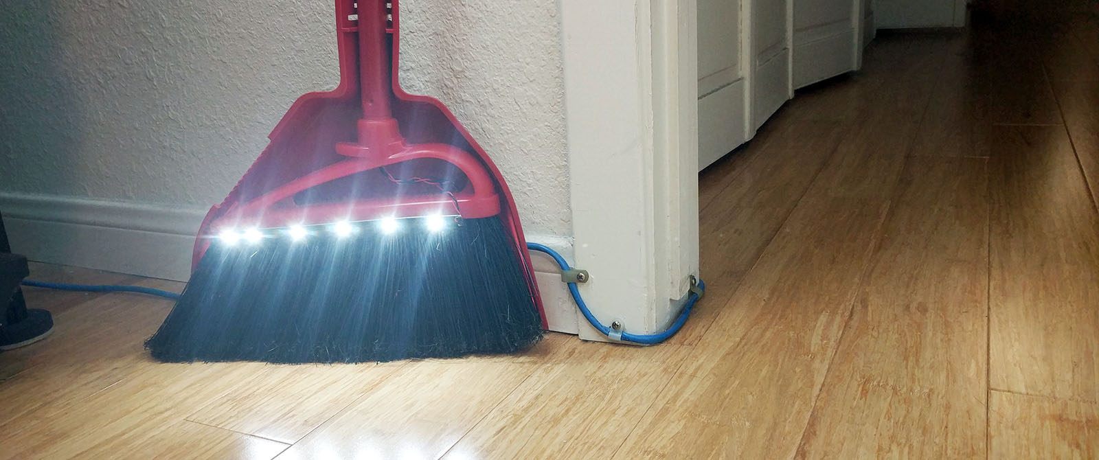 Build An Led Broom To Light Up Life S Dark Corners Make