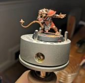 One of my Skaven linemen, painted., ready for basing.