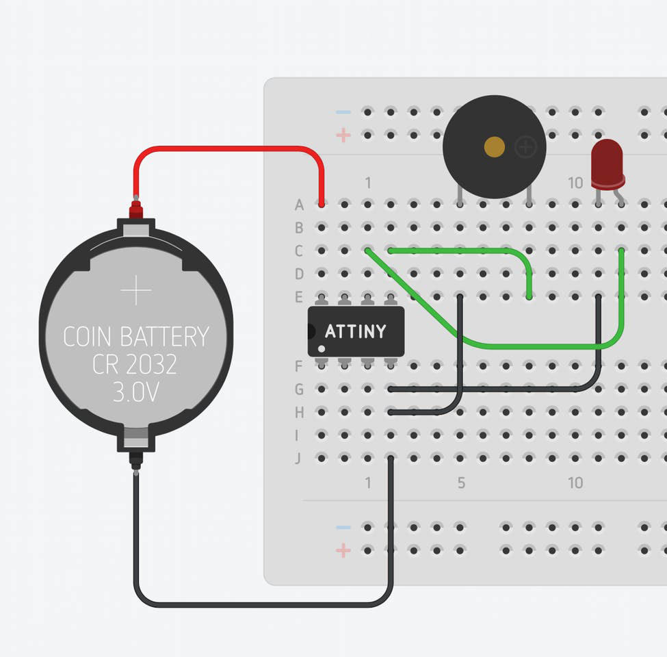 Prank Your Friends With This Chirping Blinking Throwie Make Fun And Easy To Build Buzzer Circuit Figure B Designed By Luke Arztz