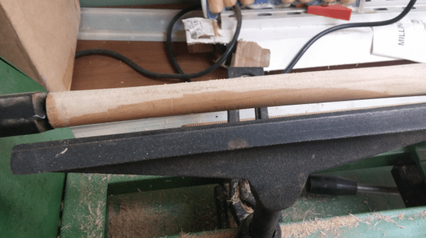 After several passes, some of the original finish on the dowel was still visible. Photo: Andrew Terranova