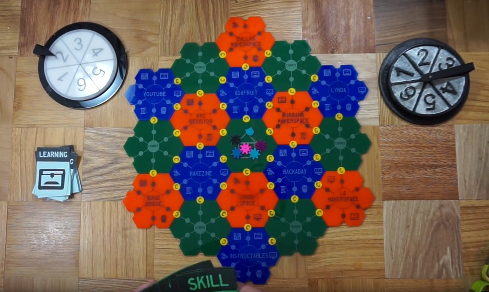 Download and Print Maker Mayhem, the Hackerspace Board Game