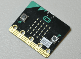 Figure B. Front of the micro:bit