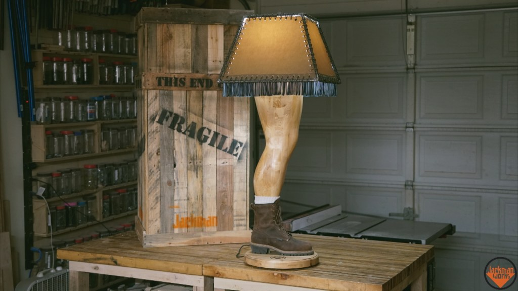 Manly Leg Lamp Puts a Twist on the Classic Christmas Story Light