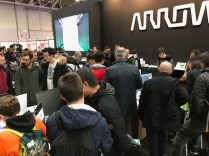 Arrow Electronics' booth was packed all day