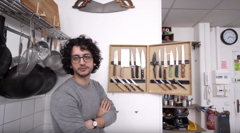 Making a Kitchen Knife Cabinet from Picture Frames