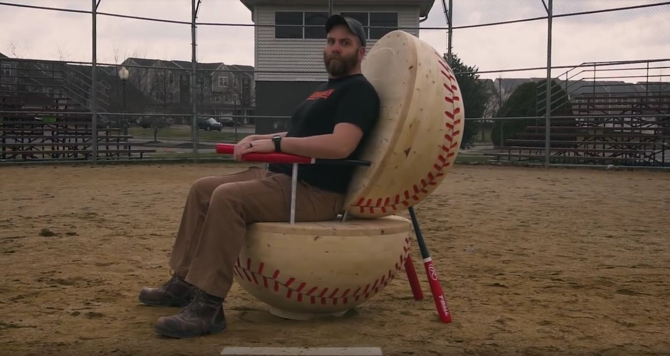 Carving a Massive Wooden Baseball Chair with Paul Jackman