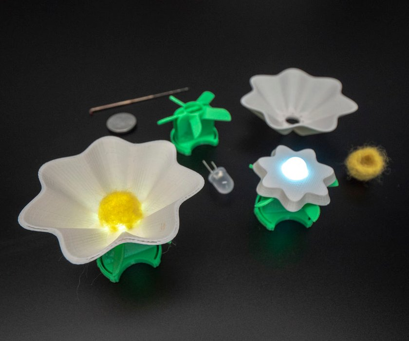 Making LED-Powered, 3D Printed Flowers