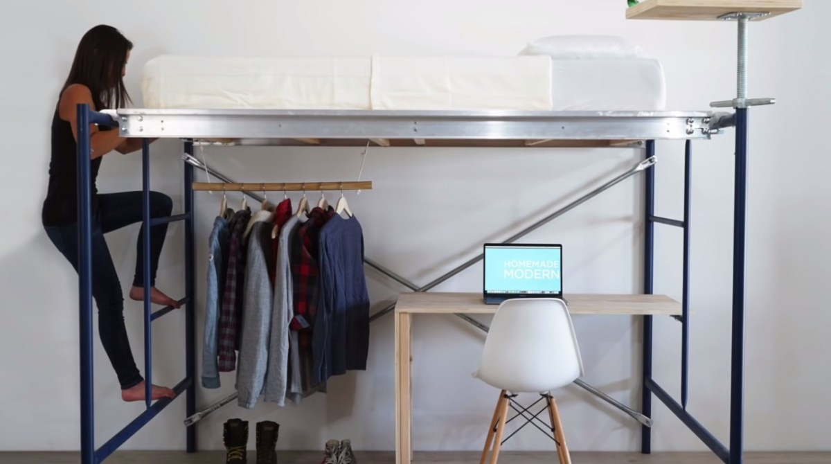 Building A Loft Bed From Scaffolding Make