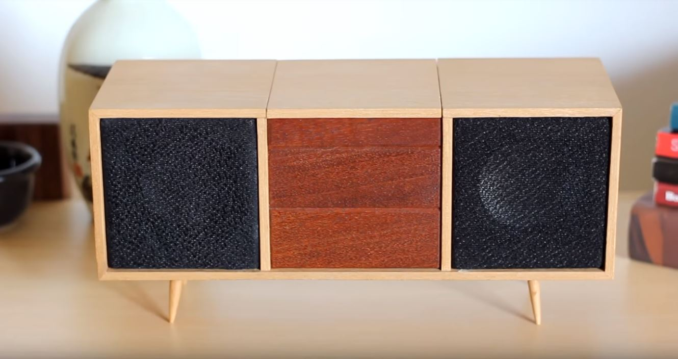 This Tiny Bluetooth Credenza Is Clever and Adorable
