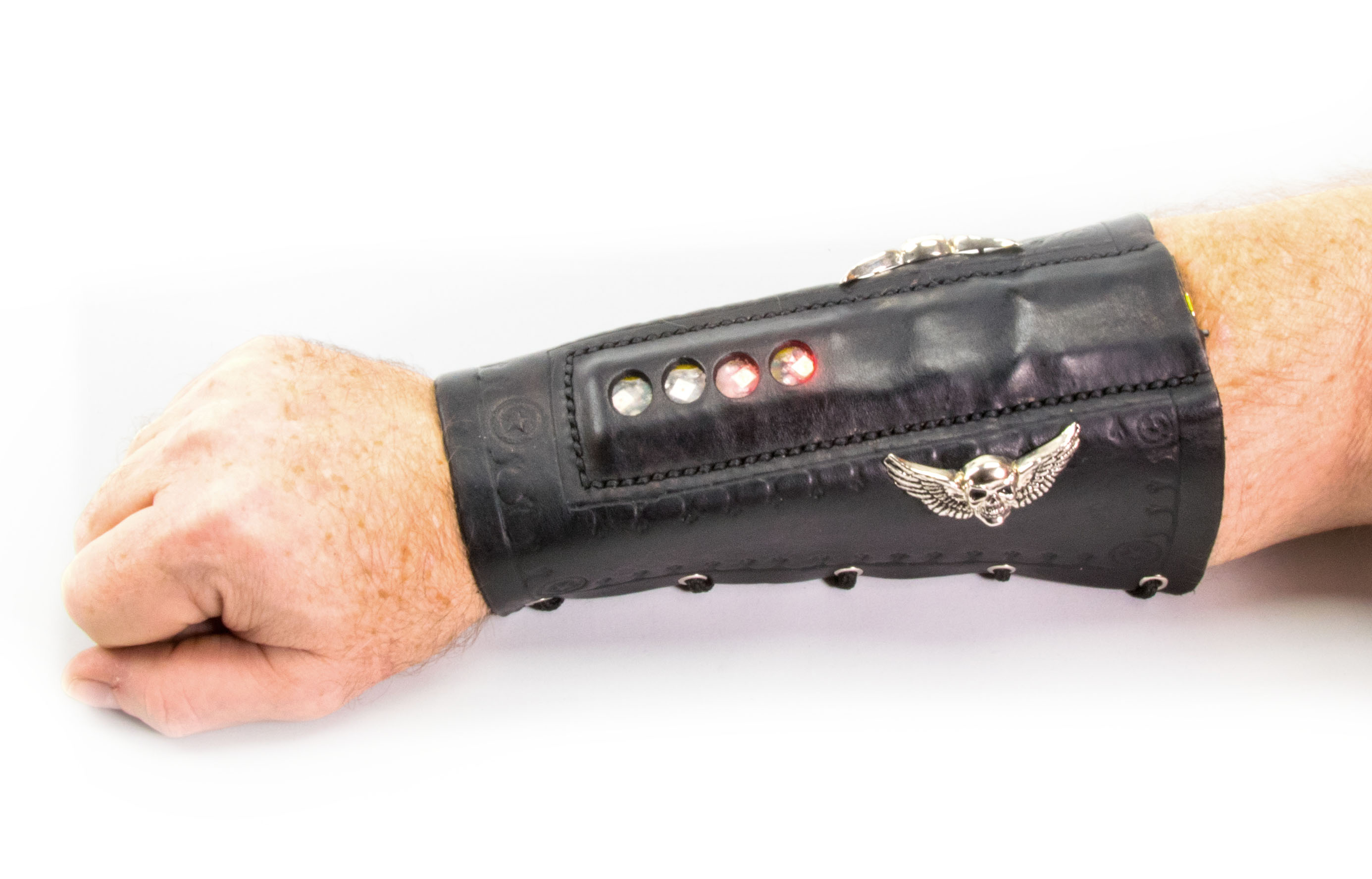 Light Up Leather Arm Braces