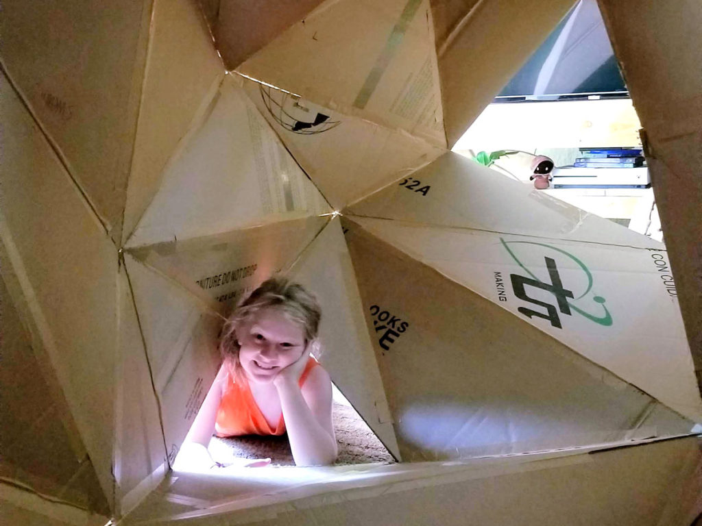 Giant Cardboard Fabrication With PolyProjector